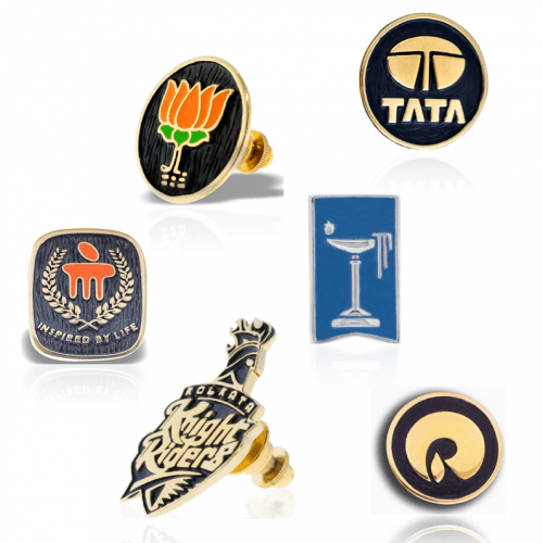Corporate Jewellery BJP Reliance Doon Tata KKR Manipal Lapel Pin Brooch