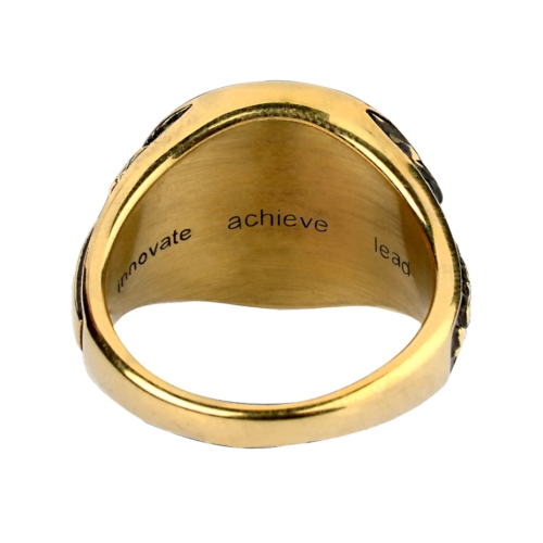 BITS Pilani Gold Ring Inside Back View By Khwaish Jewels