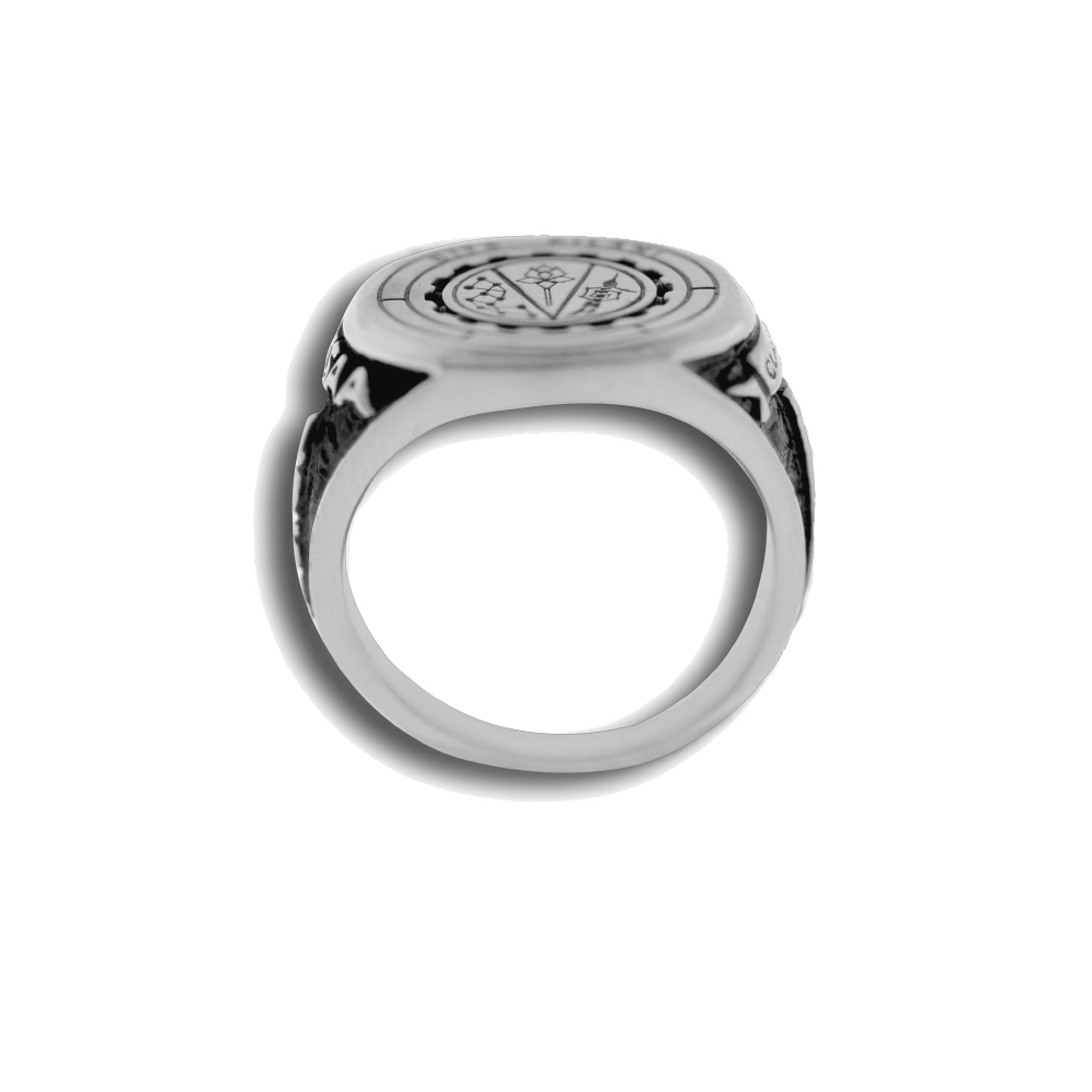 BITS Pilani Silver Ring Front Top View By Khwaish Jewels