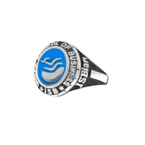 ISB-RING-S2 with Blue Enamel by Khwaish Jewels