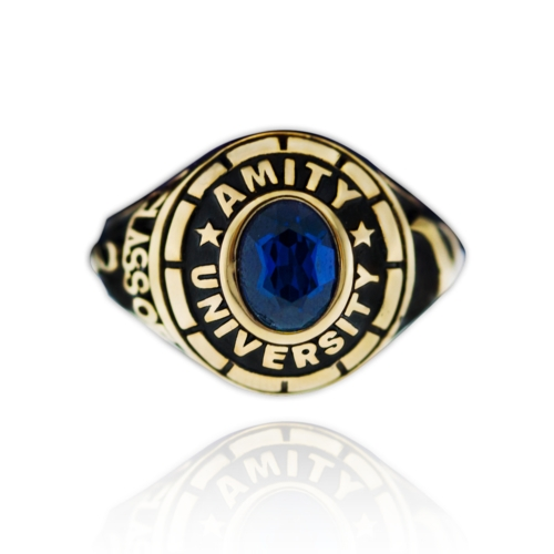 Amity-Ring-with-Stone-G1- front-View-by-Khwaish-Jewels