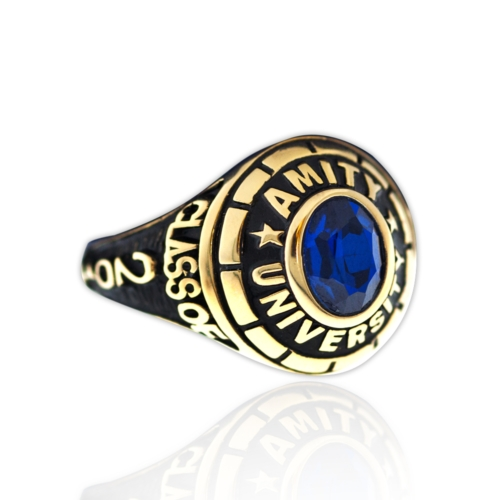 Amity-Ring-with-Stone-G3- front-View-by-Khwaish-Jewels