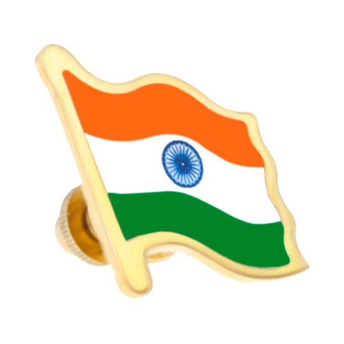 Gold Indian Flag Right Side by Khwaish Jewels