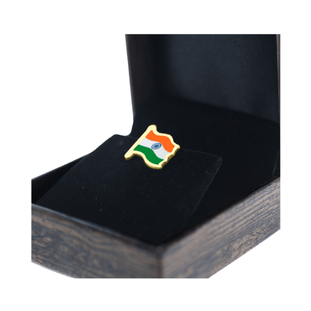 Gold Indian Flag Box Side by Khwaish Jewels