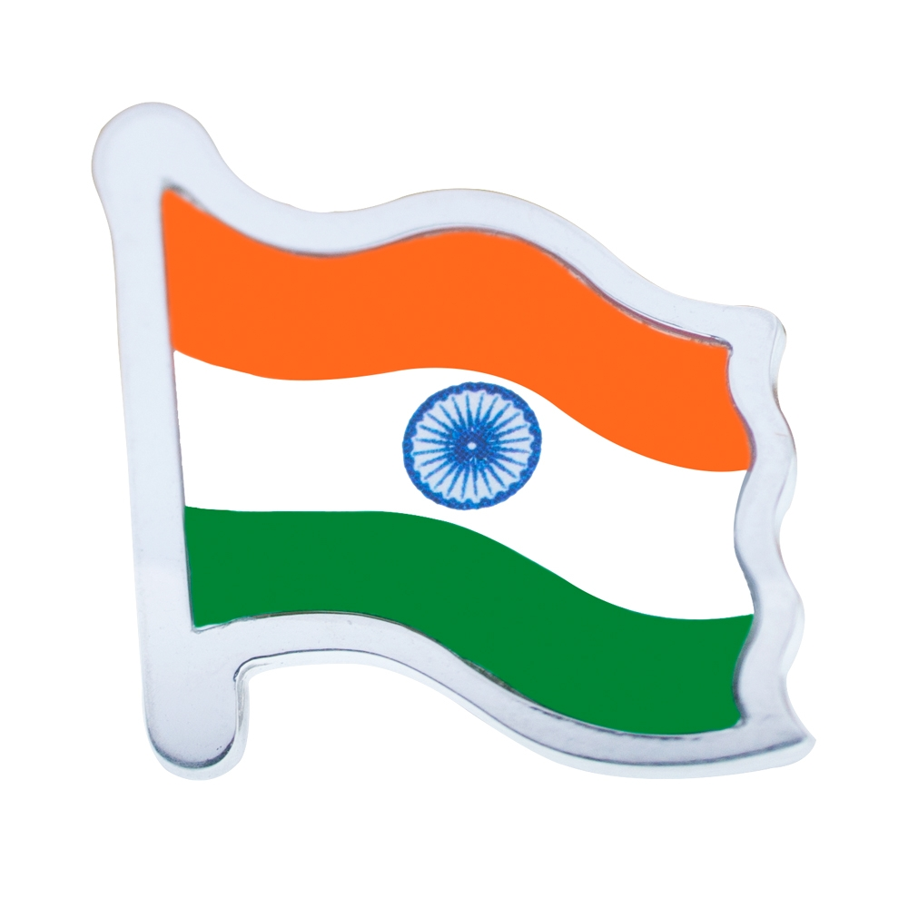 Sterling Silver Indian Flag by Khwaish Jewels