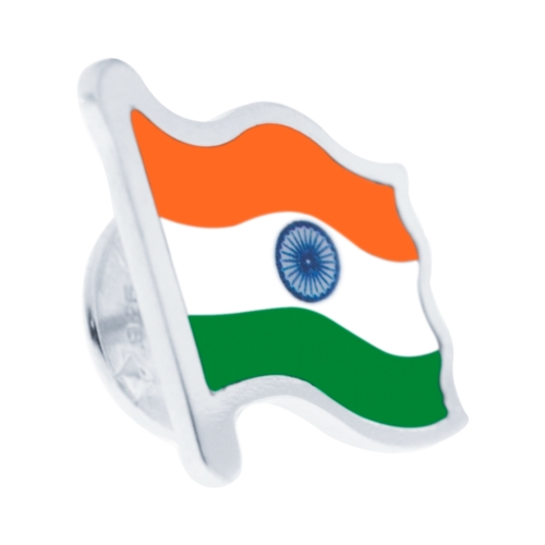 Sterling Silver Indian Flag Left Side by Khwaish Jewels