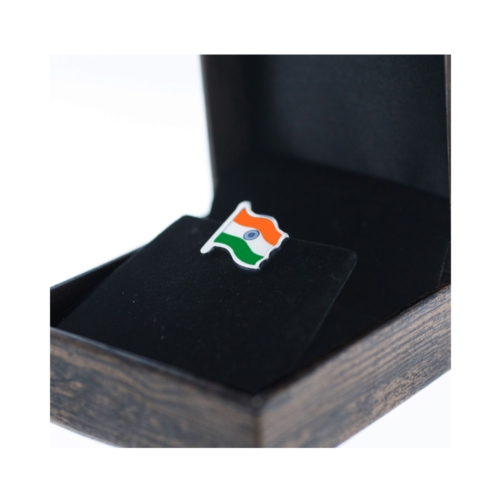 Sterling Silver Indian Flag Box Side by Khwaish Jewels